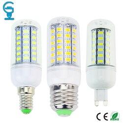 Lâmpada led e27 e14 g9 lâmpada led 220 v 110 v lâmpada led 24 36 48 56 69 leds lustre vela ampola bombillas lampada