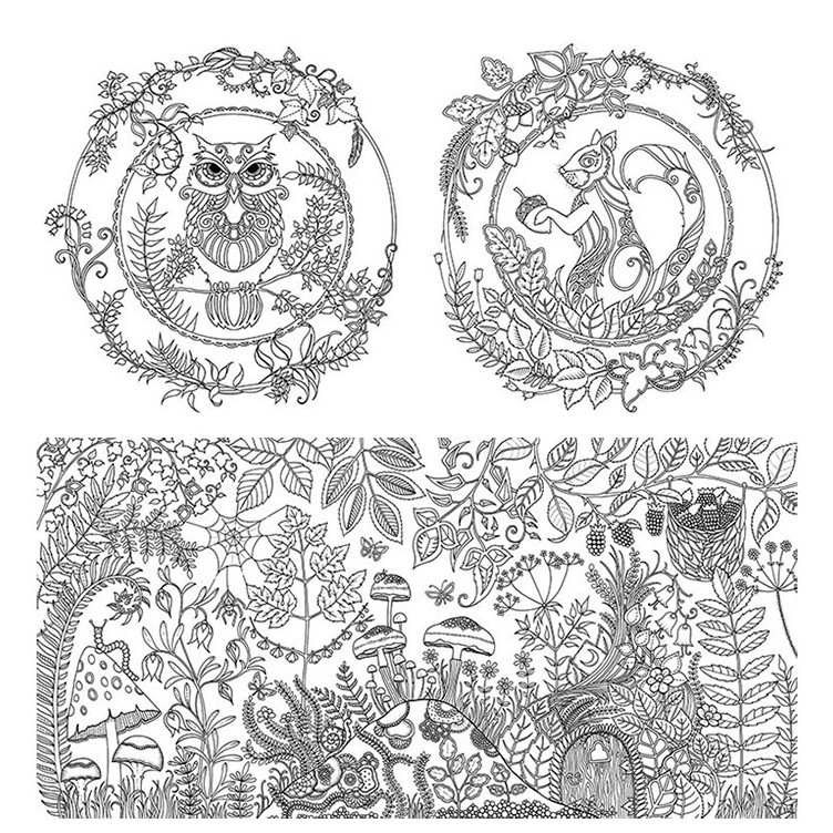 This Stunning New Colouring Book By Johanna Basford Takes Readers On A Inky Quest Through An Enchanted Forest To Discover What Lies In The Castle At Its