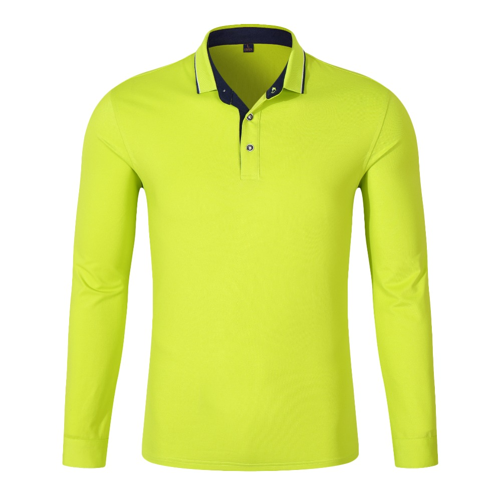Good Quality New 2018 Spring Brand Autumn Men   Polo   Shirt Long Sleeve Solid 94% Cotton Plus Size XS-3XL