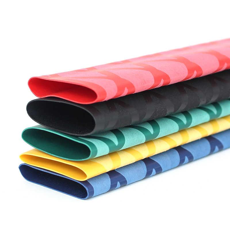 Anti-SLIP Heat ShrinkหลอดสำหรับตกปลาRod DIYฉนวนกันความร้อน 5 สี 1M 15/18/20/22/25/28/30/35/40/50 มม.