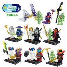 Wholesale 2015 New Arrival Ninja 80PCS Ninja With 80PCS Skeletons Kai Jay Cowler Minifigures Classic Toy Best Children Gift
