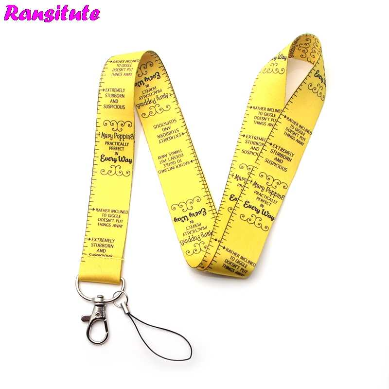Ransitute R288 Fashion personality Key ID Card Gym Phone Strap USB Badge Holder DIY Camera Metal Lanyard