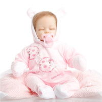 18 inch 45cm baby reborn Silicone dolls, lifelike doll reborn babies toys for girl princess gift brinquedos Children's toys