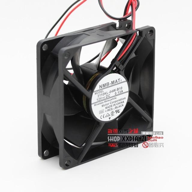3110KL-04W-B10 originais 8025 12 V 0.13A 8 CM dois fios bola ventilador de refrigeração