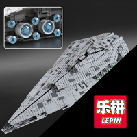 Лепин 05131 первый заказ Звезда модель прослужит 1585 шт. строительные блоки, совместимые 75190 Сборка игрушки мальчиков Рождественский подарок