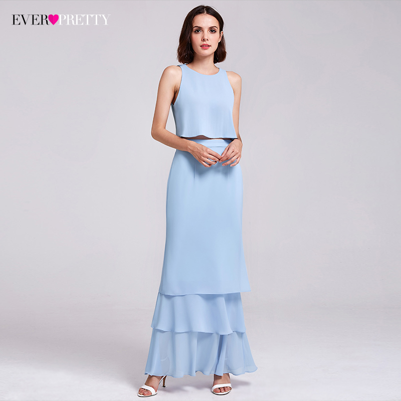 Bridesmaid Dresses Ever Pretty Two Piece Dress Crop Top Shift Split Back Layered Skirt Design Ep07173 In From Weddings Events On