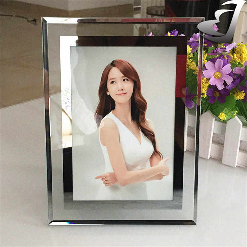 High-grade thick glass photo frame Elegant Creative simple photo frame House decoration Anti-burst