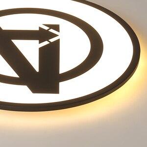 Image 5 - Modernas luzes de teto led para quarto estudo sala crianças rom casa deco preto/azul lâmpada do teto