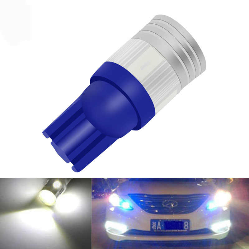 1pcs Bright White T10 LED W5W High Power 6 5630 SMD 5630 168 194 2825 Bulbs Led Lamp Car Parking Light License Position Light