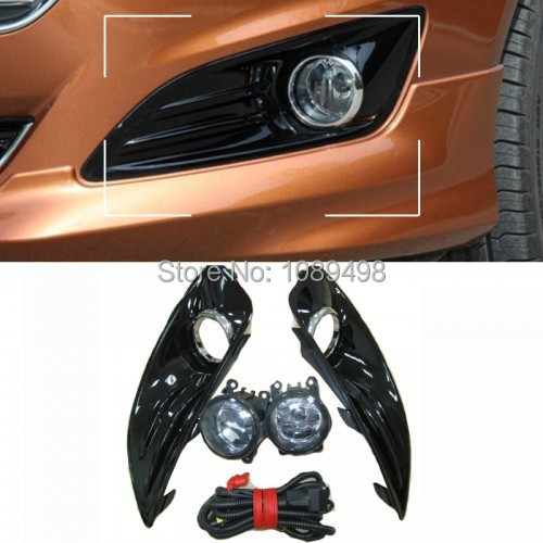 compare prices on wire harness cover online shopping buy low 1 set front bumper fog lamp light and high light cover and wire harness kits for