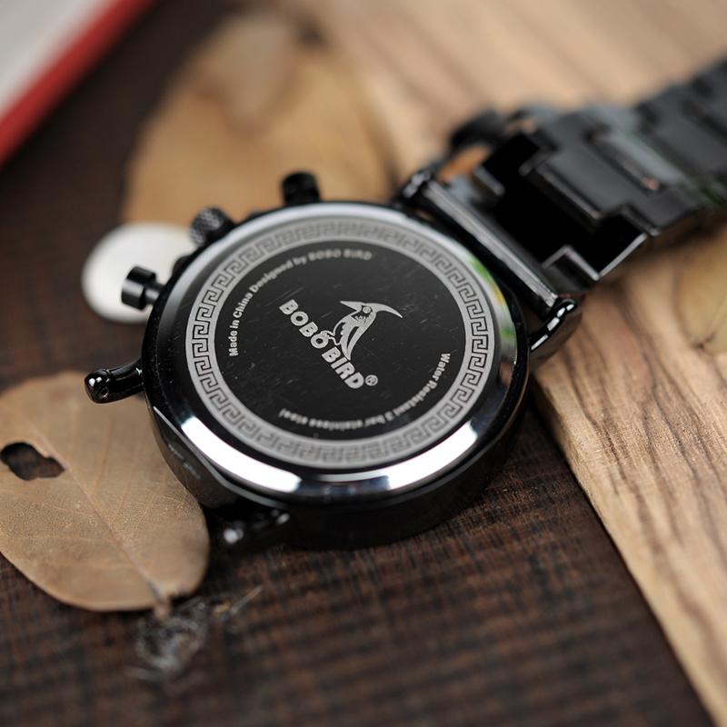 Zegarek drewniany Bobo Bird Logos 16