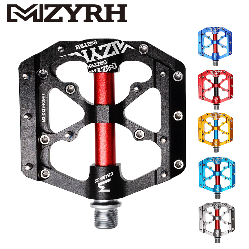 MZYRH 3 Sealed Bearing Bicycle Pedals Aluminum Alloy Matt Glossy Ultralight Anti-slip MTB Mountain Road Bike PedalsMZYRH 3 Sealed Bearing Bicycle Pedals Aluminum Alloy Matt Glossy Ultralight Anti-slip MTB Mountain Road Bike Pedals