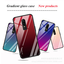Creative TPU Soft Edge of New 1+6T Gradual Change Tempered Glass Handset Shell One Plus 7 Pro Colour with 7 Pro Fall Protection