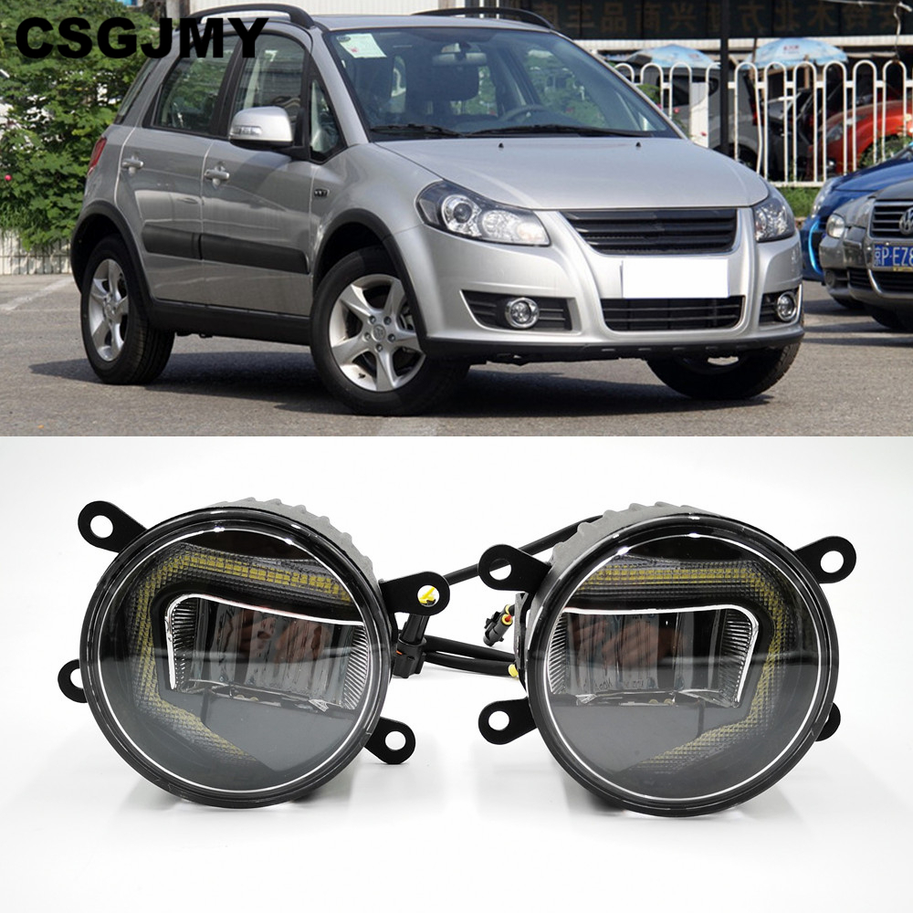 3 IN 1 Functions LED For Suzuki SX4 2011   2016 2017 2018 DRL Daytime Running Light Car Projector Fog Lamp with yellow signal-in Car Light Assembly from Automobiles & Motorcycles    1