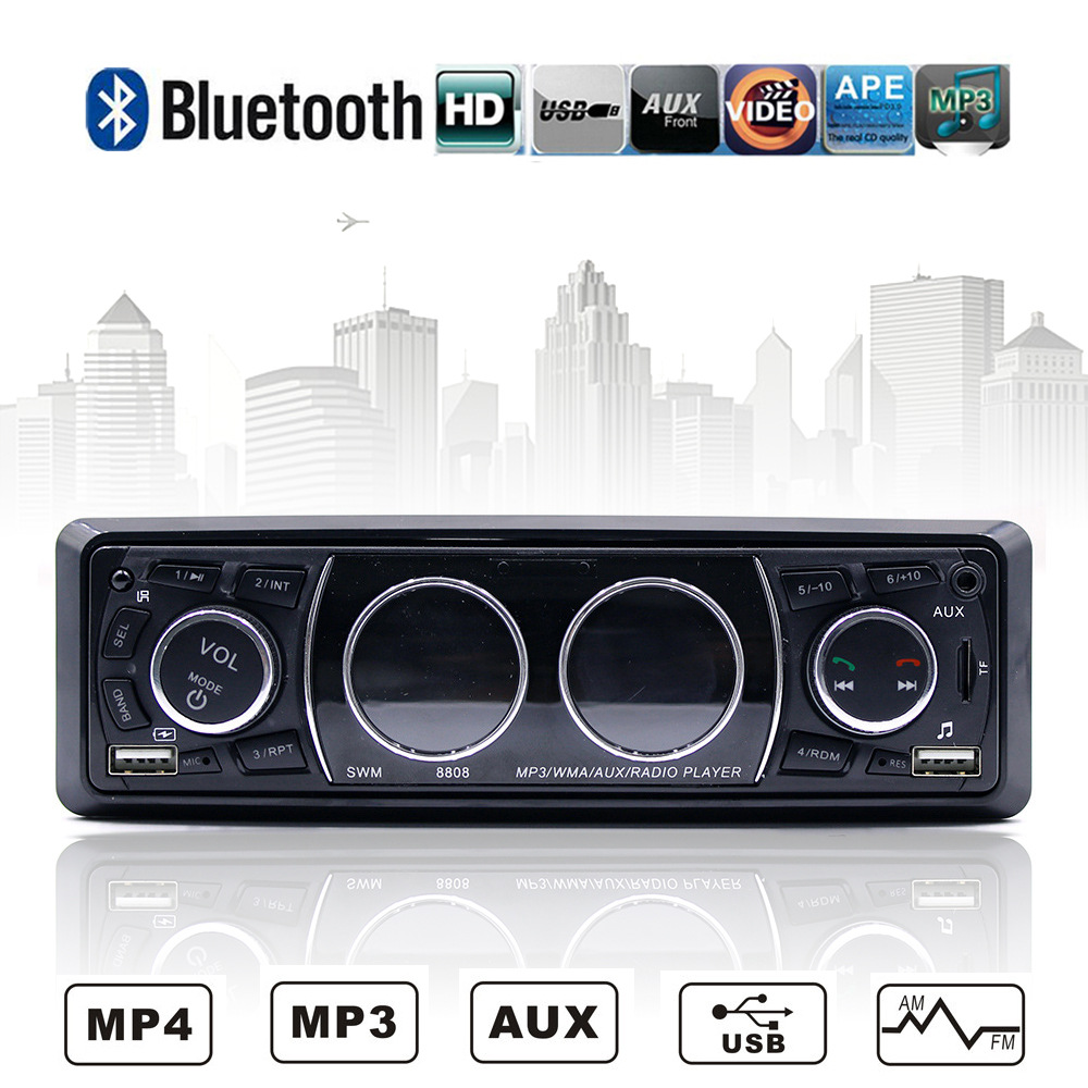 2018 Car radio MP3 player car bluetooth multi function call U disk 12 v24v high power bluetooth card FM radio car electronic