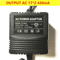 Mixer power adapter AC Output 17V*2 420mA 18V canbe used 3 pin plug output free shipping|AC/DC Adapters| |  -