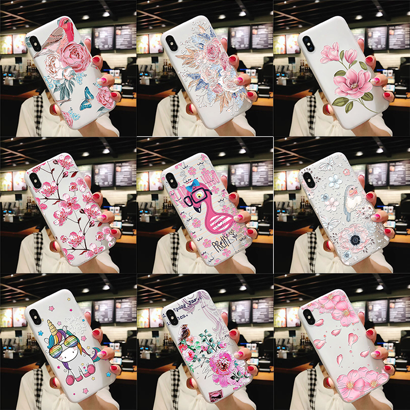 3D Emboss Flamingo Unicorn Floral Coque For Samsung Galaxy S7 S6 Edge S8 S9 S10 A30 A40 A50 A70 A5 A7 A6 A8 Plus Note 4 8 9 Case image
