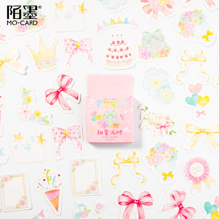 45 Pcs/pack Sweet Birthday Party Stickers Set Decorative Stationery Stickers Scrapbooking Diy Diary Album Stick Label