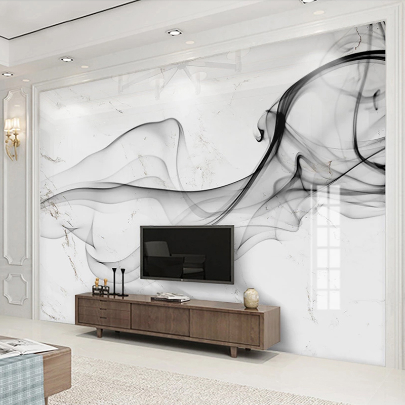 Custom 3D Photo Wallpaper Abstract Smoke Marble Pattern Background Art Wall Painting Modern Living Room TV Backdrop Decor Mural