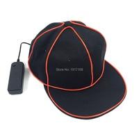 Free Shipping LED Baseball Caps Glowing EL Bboy Hats 10 Colors Available Hip Hop Hats DJ