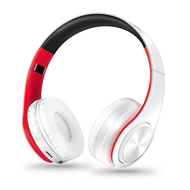 colorful stereo Audio Mp3 Bluetooth Headset Foldable Wireless Headphones Earphone support SD card with Mic