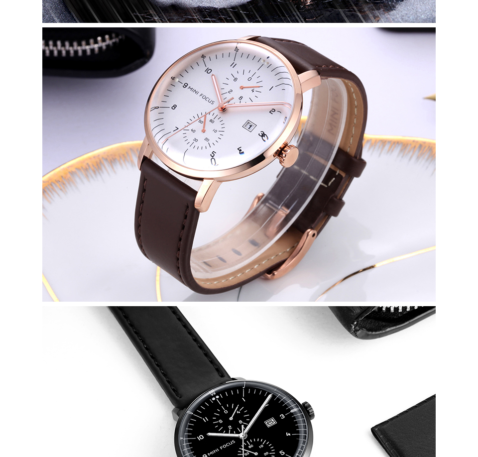 HTB1KUPJjruWBuNjSszgq6z8jVXaX MINI FOCUS Mens Watches Top Brand Luxury Quartz Watch Men Calendar Bussiness Leather relogio masculino Waterproof reloj hombre