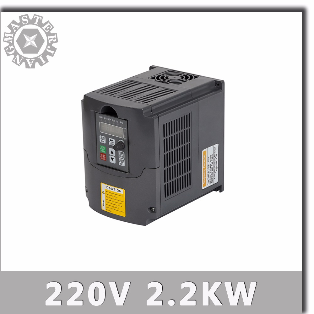 2 2KW Spindle Speed Control 220V 2200W VFD Variable Frequency Drive VFD 1HP or 3HP Input