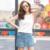 2016 verano nuevo diseño mujer rhinestones de la borla en forma de i de la gasa camisolas y tank tops