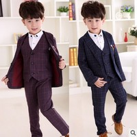 Suit for Boys Formal Suits Boy Blazers Set Wedding Coat Outfits Party Costume Suits Boys Blazers boys suits for weddings 3 12Y