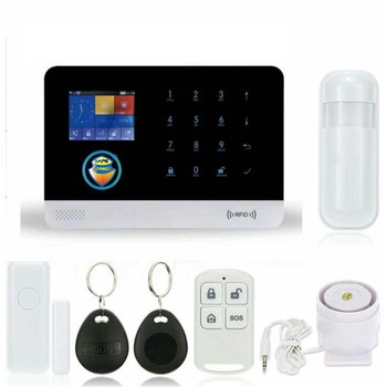 2.4inch TFT display screen Wifi +GSM+ GPRS Burglar alarm system