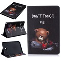 For Samsung GALAXY Tab 10.1 P580 P585 Case Cartoon Bear Painting Case PU Leather Case Tablet Stand Cover with Card Holder+Stylus
