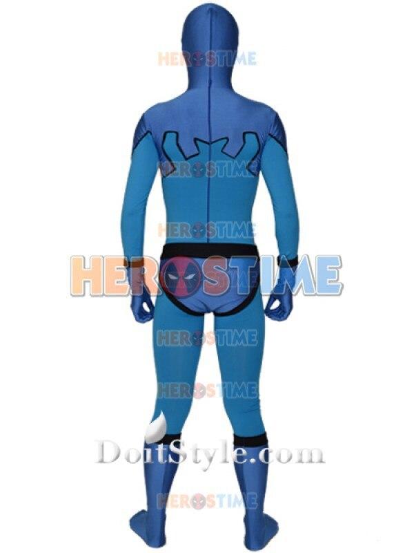 Blaues Käfer Ted Kord Version Spandex Superhero Kostüm Zentai Anzug - Kostüme - Foto 2