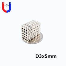 2000pcs 3x5 strong magnet 3x5mm super powerful neodymium magnet Artcraft 3*5 mm Mini small magnet bar NdFeB Wholesale парогенератор с утюгом silter super mini 2035 3 5 литра