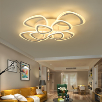Modern acrylic LED ceiling light Overlapping frames large luxury ceiling lamp for living dining bed room luster avize
