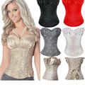 Corsets and Bustier Black Waist Shaper Corset Renaissance Sexy Lingerie Lacing Corset tops For Wedding Dress Plus 4XL W580864