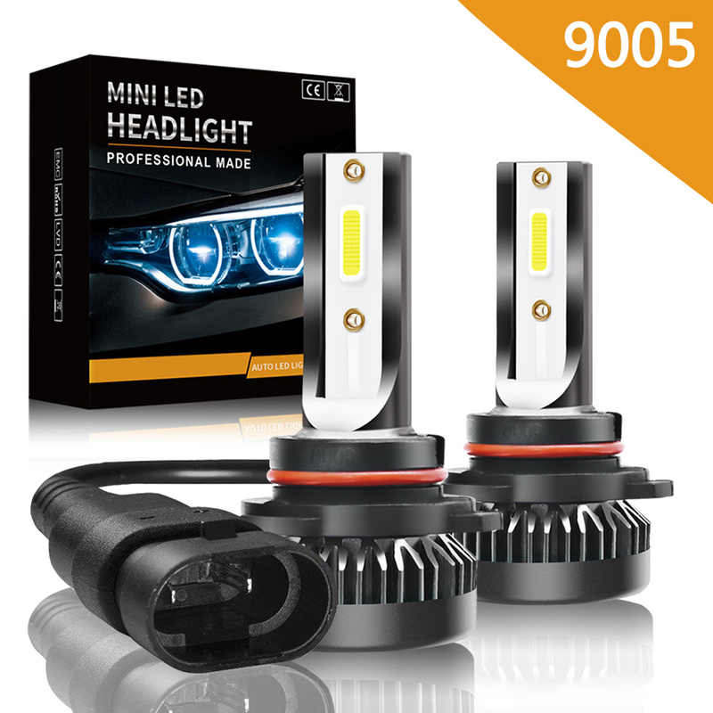 2PCS Car Headlight Mini Lamp LED Bulbs 9005 9006 9012 Headlamps Kit 72W 8000LM Car Light Hi/Lo Beam White 6000K Car Accessories