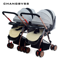 2017 Hot Sale Splittable Twins Baby Stroller,Folding Shock Double Seats Pushchair,Newborn Poussett Pram for Travelling carrinho