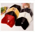 Free shipping  High-density wool collar imitation rabbit fur collar winter decoration took/black and white collar men and women