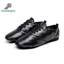 Zuoxiangru Professional Black Full Grain Leather Latin Ballroom Dance Shoes For Men Rubber Outsole Lace Up Salsa Dancing Shoes серьги детские из золота д0268 026313