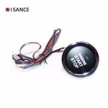 ISANCE бесключевая кнопка запуска двигателя Переключатель проводов универсальный для большинства автомобилей грузовиков или внедорожников(красный цвет после запуска двигателя