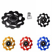 11T MTB Bicycle Rear Derailleur Jockey Wheel Ceramic Bearing Pulley CNC Road Bike Guide Roller Idler For 7/8/9/10 Speed Bicycle microshift rd r47s 11 28t 10 9 speed road bicycle rear derailleur aluminum compatible for 10 9 speed road rear derailleur