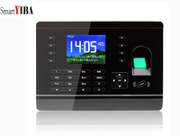 SmartYIBA 2.8 Inch TCP/IP Biometric Fingerprint Attendance Time Clock USB Scanner Recorder Employee Machine For Office