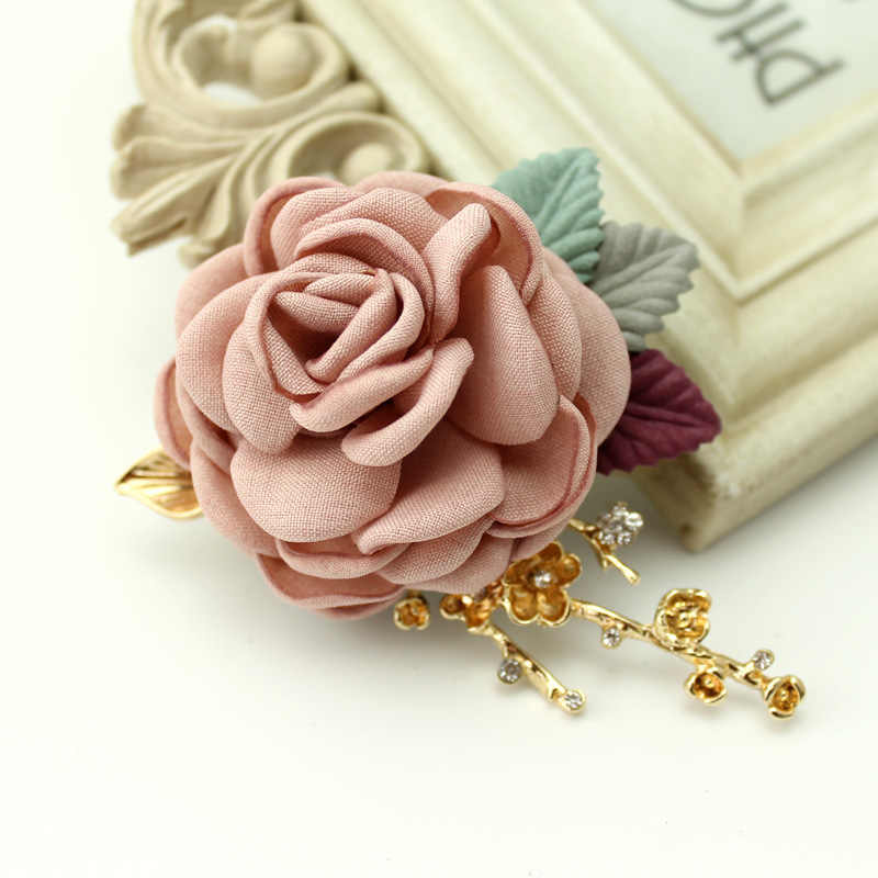 ... i-Remiel 2018 Fashion Cloth Art Fabric Pearl Flower Brooch Pin  Boutonniere for Women Badge ... 9d5a4b4203