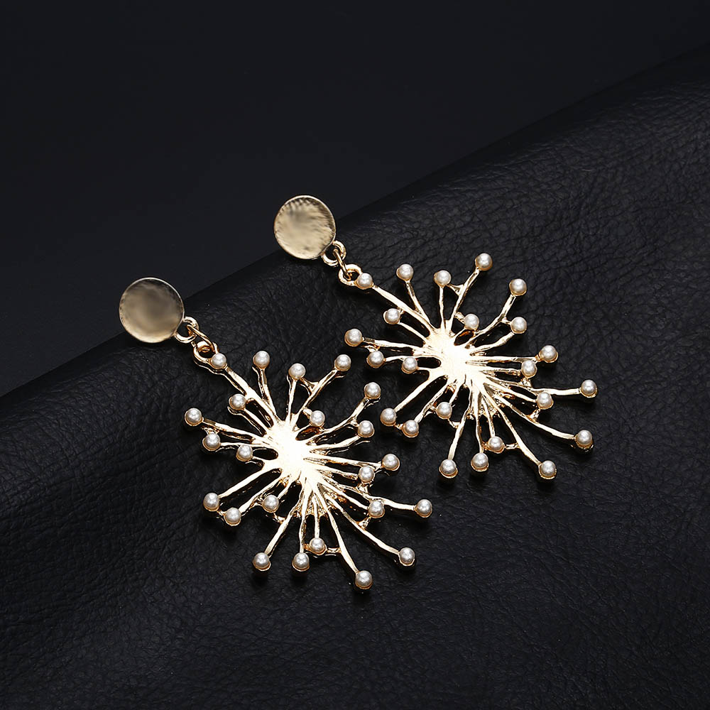 Terreau Kathy Vintage Fireworks Burst Geometric Imitated Pearl Earrings  Exaggerated Personality Earrings For Women Party Jewelry-in Drop Earrings  from ... a0aca066afc6