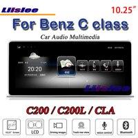 Liislee Автомобильный мультимедийный для Mercedes Benz C Class C200 C260 C180 MB W204 2007 ~ 2014 автомобиля радио dvd плеер стерео gps NAV навигации