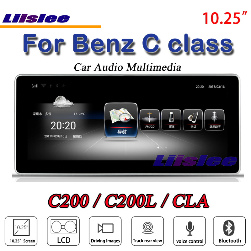 Liislee Car Multimedia For Mercedes Benz C Class C200 C260 C180 MB W204 2007~2014 Car Radio DVD Player Stereo GPS NAV Navigation