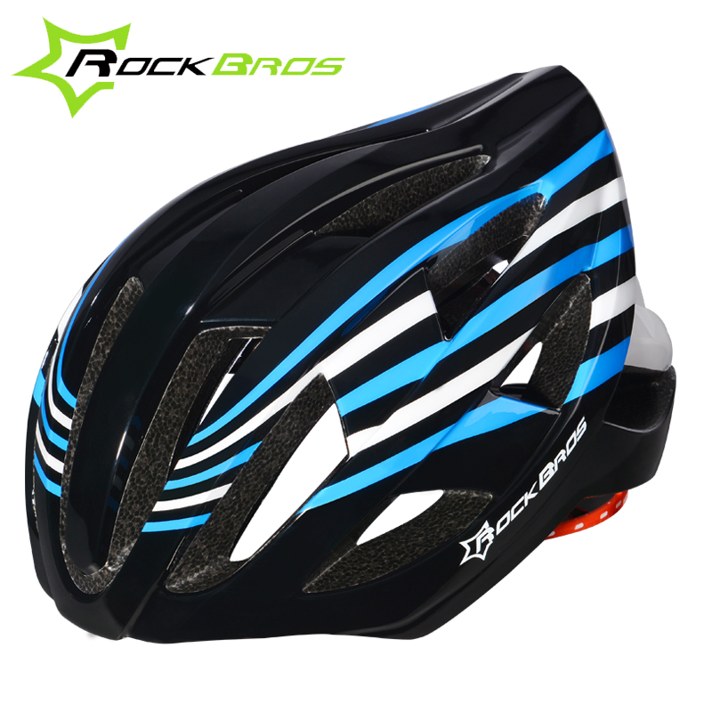 Rockbros Integrally-molded Cycling Hemet With Tail Light Ultralight MTB Road Bike Helmet Pro Night Bicycle Helmet Casco Ciclismo rockbros titanium ti pedal spindle axle quick release for brompton folding bike bicycle bike parts