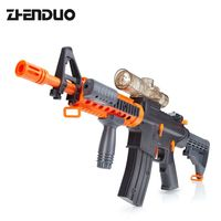 ZhenDuo Electric Current Assault Rifle Gun can Launch Crystal Soft Bullet Water Bomb Shooting Toys Gun for Children Gift