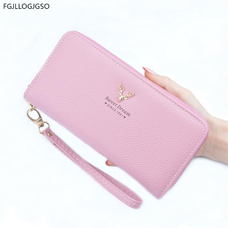 PU Leather Wallet Hand bag long Multifunction womens wallets and purses fashion new female money clip rfid wallet lady brand bag