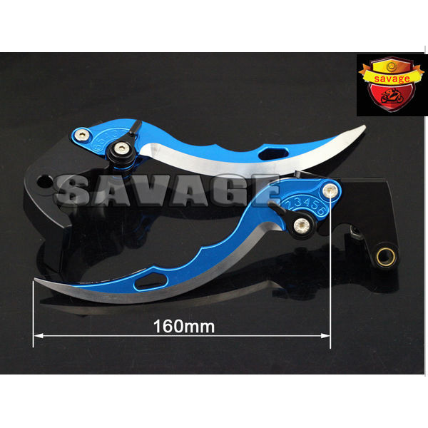 For HONDA CBR600RR CBR1000RR 2008-2015 Blue Knife Blade CNC Aluminum Brake Clutch Levers with logo 9 color cnc brake clutch levers blade for 2000 2001 honda cbr929rr cbr 929 rr